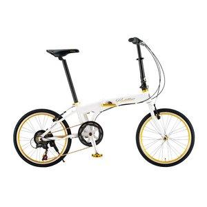 CADILLAC(キャデラック) AL-FDB207 20インチ 折畳自転車 6段変速 ホワイト - 拡大画像