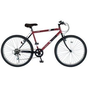 MYPALLAS(マイパラス) 自転車 26インチ 6段ギア M-610S ワインレッド (マウンテンバイク) - 拡大画像