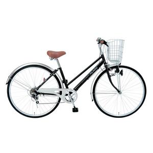 MYPALLAS(マイパラス) 自転車 27インチ 6段ギア M-571 マットブラック (シティサイクル) - 拡大画像