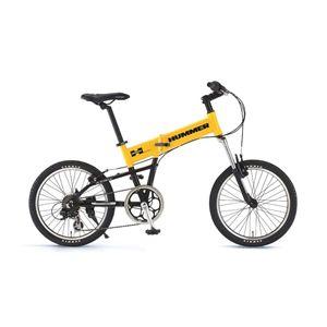 HUMMER(ハマー) 折り畳み自転車 FDB207F-sus 20インチ イエロー - 拡大画像