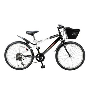MYPALLAS(マイパラス) 子供用自転車 M-707 22インチ 6段変速 子供用 ブラックホワイト(マウンテンバイク) - 拡大画像