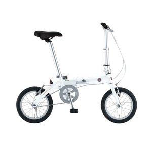 FIAT(フィアット) 折りたたみ自転車 AL-FDB140 14インチ ホワイト - 拡大画像