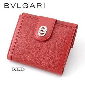 BVLGARI(ブルガリ) ドッピオトンド二折財布 25217/RED - 拡大画像