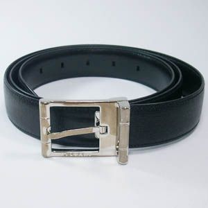 BVLGARI(ブルガリ)  #22205  Man Belt Printed Calf Black/P - 拡大画像
