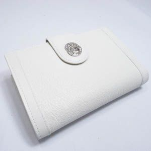 BVLGARI(ブルガリ) #25250 Woman wallet 2 folds with frame Goat leather chalk/calf leather chalk/P - 拡大画像