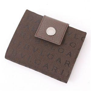 BVLGARI (ブルガリ) ダブルホック財布 LETTERE 22596・Chocolate - 拡大画像