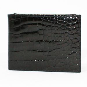 【訳アリ】BVLGARI(ブルガリ) 20314 財布 Man's wallet bills & 6CC small/ black croco. Shi - 拡大画像