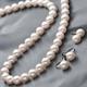 花珠本真珠(あこや真珠) 7.5-8mm パールネックレス+パールイヤリング2点セット 【本真珠】 - 縮小画像1
