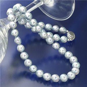 あこや真珠(大珠) 8.5〜9mm ナチュラルブルーバロックパールネックレス - 拡大画像
