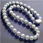 伊勢志摩産 和珠本真珠 8.0〜8.5mm ナチュラルブルーバロック パールネックレス