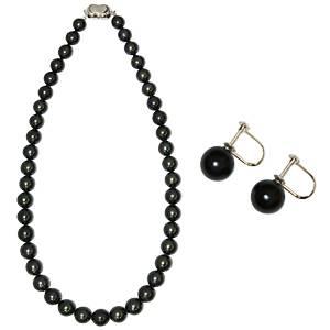 【鑑別付】タヒチ産真珠 T-1 8〜10mm ネックレス+イヤリングセット(ケース付) - 拡大画像