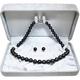 【鑑別付】タヒチ産真珠 T-1 8〜10mm ネックレス+イヤリングセット(ケース付) - 縮小画像4