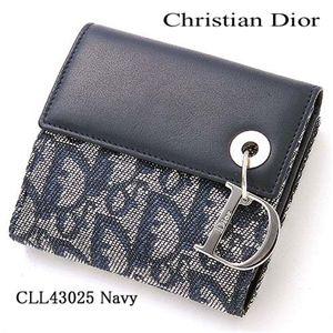 Christian Dior(クリスチャンディオール) Wホック財布 CLL43025 ネイビー - 拡大画像