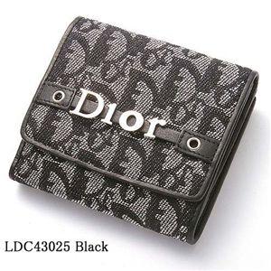 Christian Dior(クリスチャンディオール) Wホック財布 LDC43025 ブラック - 拡大画像