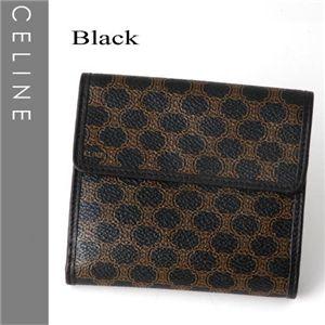 CELINE(セリーヌ) Wホック財布 102723-7 ブラック - 拡大画像