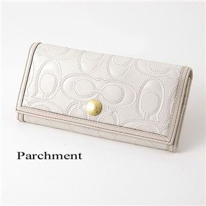 COACH(コーチ) シグネチャーレザー長財布 Parchment - 拡大画像