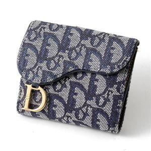 Christian Dior トロッター ダブルホック財布 SLO43025 B3・Blue×Oro - 拡大画像