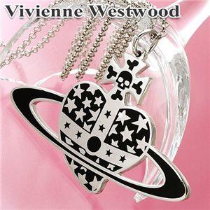 Vivienne Westwood(ヴィヴィアン ウエストウッド) FLAT HEART STAR ペンダント - 拡大画像