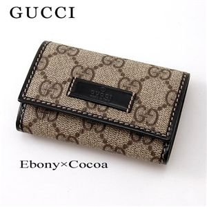 GUCCI(グッチ) キーケース JOY 203574 FP1KG 8552・Ebony×Cocoa - 拡大画像
