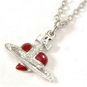 Vivienne Westwood(ヴィヴィアン・ウエストウッド) ネックレス Diamante Heart Orb 1919 1021 001 Red - 拡大画像
