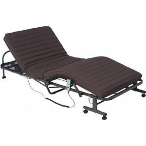 折りたたみ電動ベッド FU05-5 ブラウン - 拡大画像