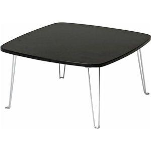 カラーテーブル/折りたたみテーブル 角60 正方形(幅60cm×奥行60cm) ブラック(黒)