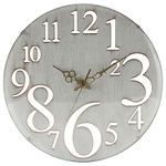 壁掛け時計 Φ32cm 【レトロ】 ヨーロッパ調 ホワイト(白) (インテリア雑貨)