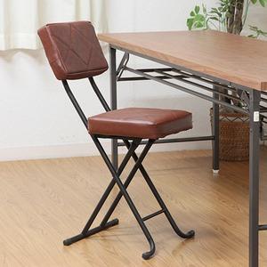 折りたたみ椅子/フォールディングチェアー 【キルト】 BR KIRTO BR ブラウン (N) 【4個セット】