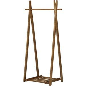 折りたたみ木製ハンガーラック 幅80cm×奥行45cm×高さ148cm BR ブラウン【組立品】 - 拡大画像