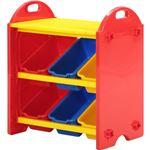 おもちゃ箱/トイボックス S 100個ブロック付き (キッズ用品/子供部屋家具)【組立品】