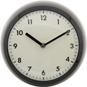 北欧風 レトロクロック/時計 【ブラック】 幅23.5cm スチール・ガラス製 〔リビング ダイニング〕 - 拡大画像