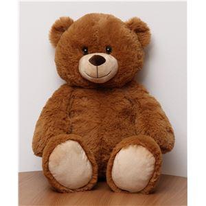 子供用 ぬいぐるみ/人形 【熊型 ブラウン】 幅30cm 〔おもちゃ 子ども部屋〕 - 拡大画像