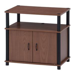 テレビラック/テレビ台 【ブラウン】 幅60cm 20型〜26型対応 収納棚 扉付き収納 脚付き 『60S』