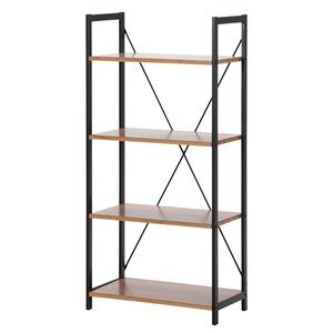 モダン調 ブックシェルフ/本棚 【4段】 幅60cm ブラウン 『SMARTII』