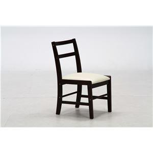 シンプルテイスト ダイニングチェア/食卓椅子 単品 【ブラウン】 幅41cm 木製フレーム 『ポエム』 - 拡大画像