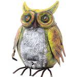 ペダル式 ダストビン/ゴミ箱 【フクロウ型 4L 幅35cm】 蓋付き スチール製 〔什器 子供部屋 幼稚園 保育園〕