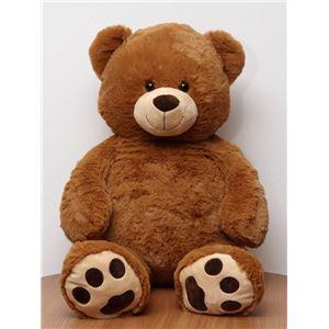 子供用 ぬいぐるみ/人形 【熊型 ブラウン】 幅50cm 〔おもちゃ 子ども部屋〕 - 拡大画像