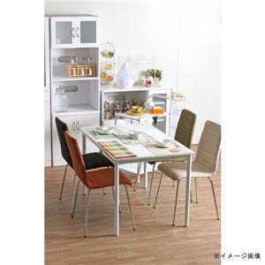 北欧風 ダイニングテーブル/リビングテーブル 単品 【幅120cm】 ホワイト スチールフレーム 『シュクル』 - 拡大画像