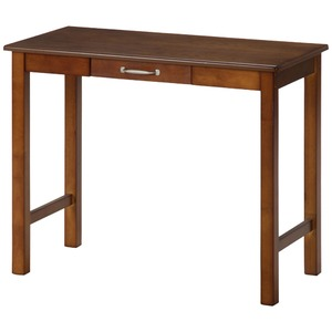 北欧風 デスク/マルチテーブル 【ミディアムブラウン】 幅90cm 引き出し1杯付き 『マンチェスター』