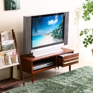 テレビラック/テレビ台 【ミディアムブラウン】 幅90cm 収納棚 引き出し1杯付き 脚付き 『オスロ』