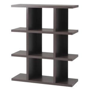 オープンシェルフ/インテリア家具 【4段】 幅90cm ブラウン 見せる収納 『FUGA』 〔ディスプレイ用品 什器〕