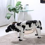 ぬいぐるみチェア/人形型椅子 【牛型 ワールドマップ柄】 幅25cm 着座可 〔おもちゃ リビング 子供部屋〕