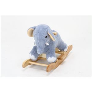 子供用 ロッキングチェア/揺り椅子 【ゾウ型】 幅65cm 木製素材使用 『ロッキングアニマル』 〔おもちゃ 子ども部屋〕 - 拡大画像