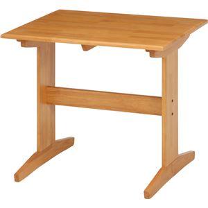 ダイニングテーブル/リビングテーブル 単品 【ナチュラル】 幅80cm 木製