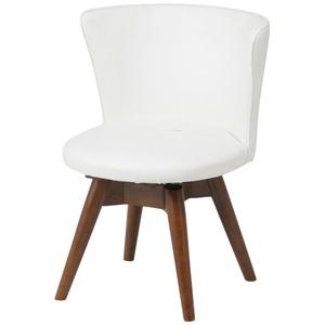 モダン調 ダイニングチェア/食卓椅子 【ウエンジ×ホワイト】 幅50cm 木製フレーム 『クラム』 - 拡大画像