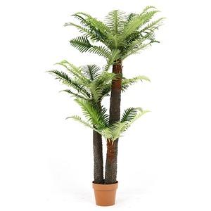 観葉植物/フェイクグリーン 【シダ 43】 7号鉢対応 幅90cm 〔リビング ガーデニング〕 - 拡大画像