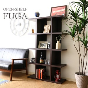 オープンシェルフ/インテリア家具 【5段】 幅90cm ブラウン 見せる収納 『FUGA』 〔ディスプレイ用品 什器〕