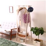 木製ハンガー ジョイント 【幅75cm】 ホワイト