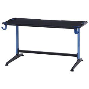 ゲーミングデスク/作業テーブル 【ハード01 ブルー】 幅138×奥行75cm 『GAMING DESK XeNO ゼノ』 - 拡大画像