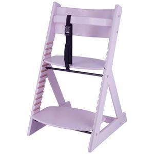 ベビーチェア/子供椅子 【ペールパープル 】 幅450×奥行505×高さ78mm 落下防止ベルト付 『グローアップチェアー』 【組立品】 - 拡大画像